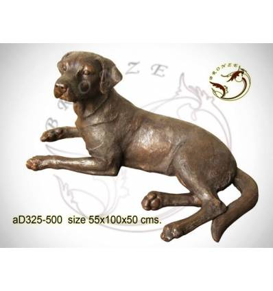 Bronze animalier : chien en bronze ad325-500 ( H .50 x L .100 Cm )
