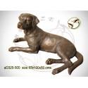 chien en bronze ad325-500 ( H .50 x L .100 Cm )