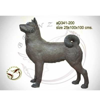 Bronze animalier : chien en bronze ad341-200 ( H .100 x L .100 Cm )