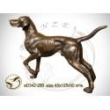 chien en bronze ad342-200  ( H .90 x L .125 Cm )
