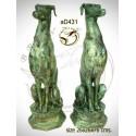 chien en bronze ad431-100  ( H .76 x L .26 Cm )