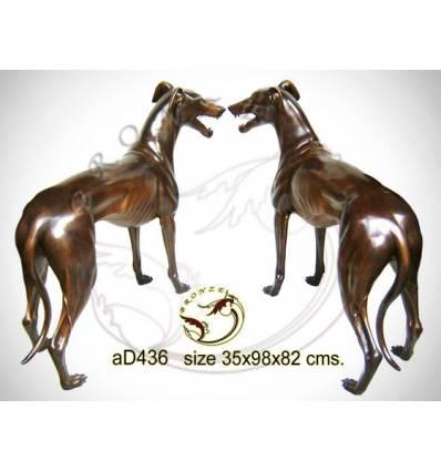 Bronze animalier : chien en bronze ad436-100 ( H .82 x L .98 Cm )