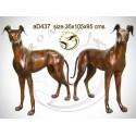 chien en bronze ad437-100 ( H .95 x L .105 Cm )