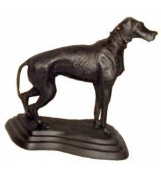 Bronze animalier : chien en bronze BRZ0289  ( H .23 x L .23 Cm )  Poids : 2 Kg