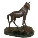 cheval en bronze BRZ0886-SM ( H .25 x L .20 Cm ) Poids : 2 Kg