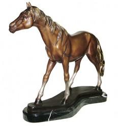 Bronze animalier : cheval en bronze BRZ1377SM ( H .53 x L .8 Cm ) Poids : 17 Kg