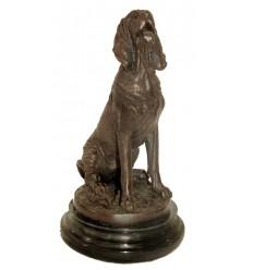 chien en bronze BRZ1063 / SM231 (H. 25 cm) - Poids : 3 Kg