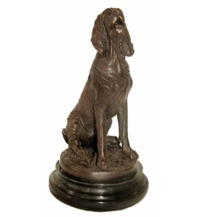 Bronze animalier : chien en bronze BRZ1063/SM231 ( H .25 x L . Cm ) Poids : 3 Kg