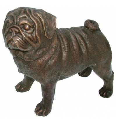Bronze animalier : chien en bronze BRZ1093  ( H .31 x L .36 Cm )