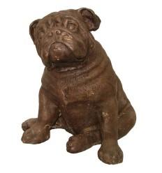 Bronze animalier : chien en bronze BRZ1139 ( H .31 x L .31 Cm )