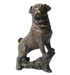 Bronze animalier : chien en bronze BRZ1140 ( H .17 x L .10 Cm ) Poids : 1 Kg