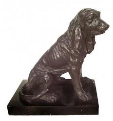 chien en bronze BRZ1190/SM355 ( H .40 x L .43 Cm ) Poids : 14 Kg