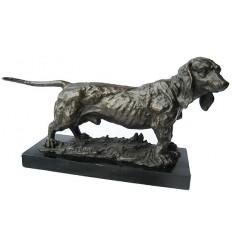 Bronze animalier : chien en bronze BRZ1191/SM387 ( H .25 x L .46 Cm ) Poids : 9 Kg
