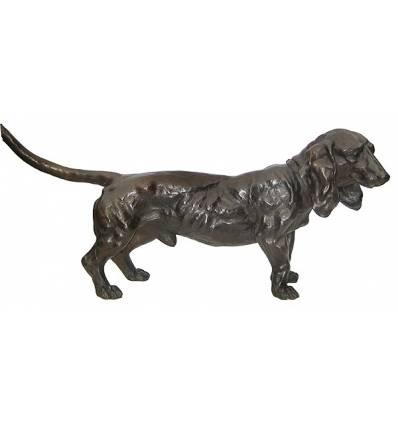 Bronze animalier : chien en bronze BRZ1193/SM324  ( H .51 x L .122 Cm )