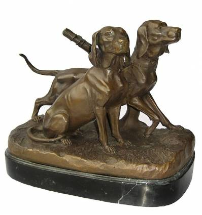 Bronze animalier : chien en bronze BRZ1194/SM247 ( H .25 x L .30 Cm )