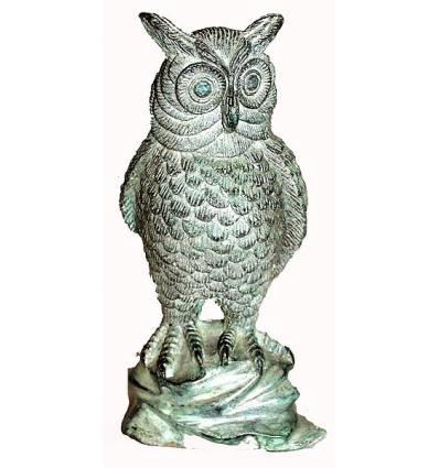 Bronze animalier : chouette en bronze BRZ0048V-14 ( H .35 x L . Cm ) Poids : 4 Kg
