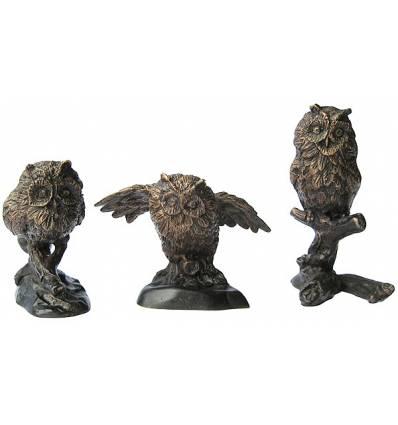 Bronze animalier : chouette en bronzeBRZ0468 ( H .12 x L .17 Cm ) Poids : 3 Kg