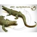 crocodile en bronze ab801-100 ( H .35 x L .190 Cm )