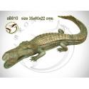 crocodile en bronze ab810-100 ( H .22 x L .90 Cm )
