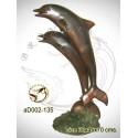 dauphin en bronze ad002-135 ( H .96 x L .65 Cm )