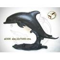dauphin en bronze ad006-100 ( H .50 x L .70 Cm )