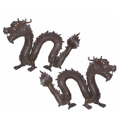 Bronze animalier : dragon en bronze BRZ0642-7 ( H .18 x L .25 Cm )