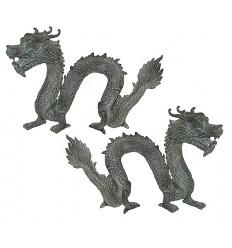 dragon en bronze BRZ0642V-7 ( H .18 x L .25 Cm )