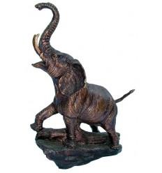 Bronze animalier : éléphant en bronze BRZ1242 ( H .23 x L .18 Cm ) Poids : 2 Kg