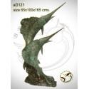 espadon en bronze ad121-100  ( H .165 x L .100 Cm )