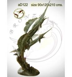 espadon en bronze ad122-100 ( H .210 x L .120 Cm )