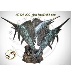 Bronze animalier : espadon en bronze ad123-200  ( H .55 x L .60 Cm )