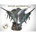 espadon en bronze ad123-200 ( H .55 x L .60 Cm )