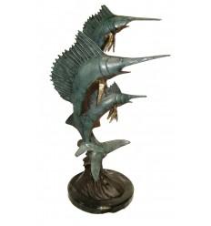 Bronze animalier : espadon en bronze BRZ1172  ( H .58 x L . Cm )  Poids : 6 Kg