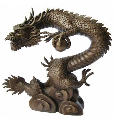 Bronze animalier : dragon en bronze BRZ0510-35  ( H .89 x L .89 Cm )  Poids : 32 Kg