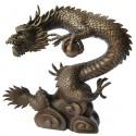 dragon en bronze BRZ0510-35  ( H .89 x L .89 Cm )  Poids : 32 Kg