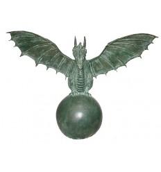 Bronze animalier : dragon en bronze BRZ1160 ( H .71 x L .91 Cm ) Poids : 19 Kg