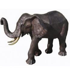 Bronze animalier :Eléphant en bronze BRZ1087 ( H .114 x L .178 Cm ) Poids : 136 Kg