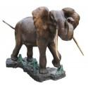 Bronze animalier :Eléphant en bronze BRZ0276 ( H .145 x L .180 Cm ) Poids : 322 Kg