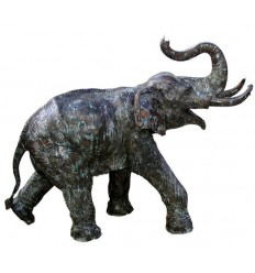 Bronze animalier :Eléphant en bronze BRZ902v  ( H .129 x L .165 Cm )  Poids : 90 Kg