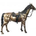 Cheval en bronze BRZ0268 ( H .162 x L .193 Cm ) Poids : 110 Kg
