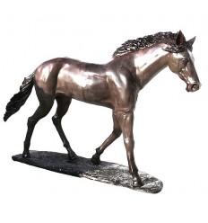 Bronze animalier :Cheval en bronze BRZ0736  ( H .185 x L .294 Cm )