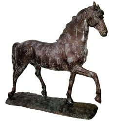 Bronze animalier :Cheval en bronze BRZ1316V ( H .115 x L .115 Cm ) Poids : 59 Kg