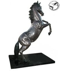 Bronze animalier :Cheval en bronze BRZ1330  ( H .295 x L .200 Cm )