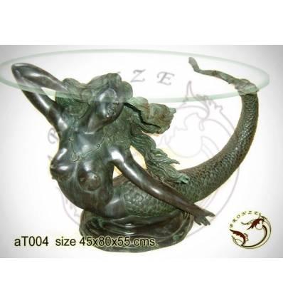 Table basse de salon en bronze at004-100  ( H .55 x L .80 Cm )