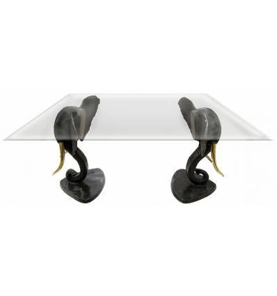 Table basse de salon en bronze BRZ0354 ( H .76 x L .87 Cm ) Poids : 65 Kg