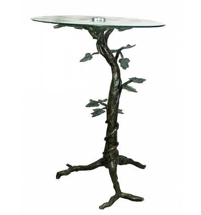 Table basse de salon en bronze BRZ0412  ( H .93 x L . Cm )
