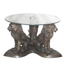 Table basse de salon en bronze BRZ0419 ( H .43 x L .68 Cm ) Poids : 28 Kg