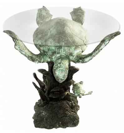 Table basse de salon en bronze BRZ0563v ( H . x L . Cm )