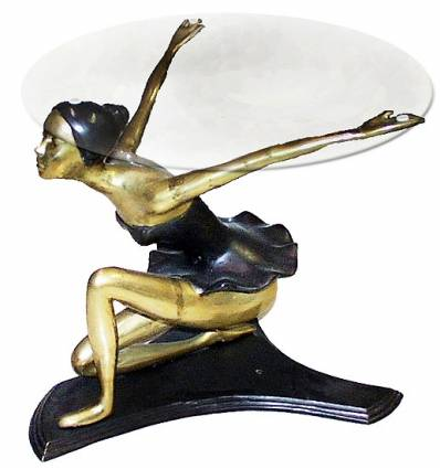 Table basse de salon en bronze BRZ0607o ( H . x L . Cm )