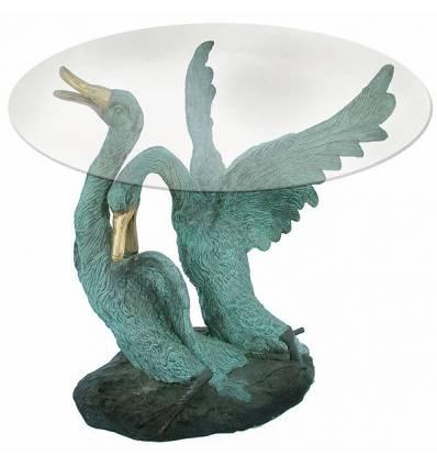 Table basse de salon en bronze BRZ1095 ( H .51 x L .43 Cm ) Poids : 15 Kg